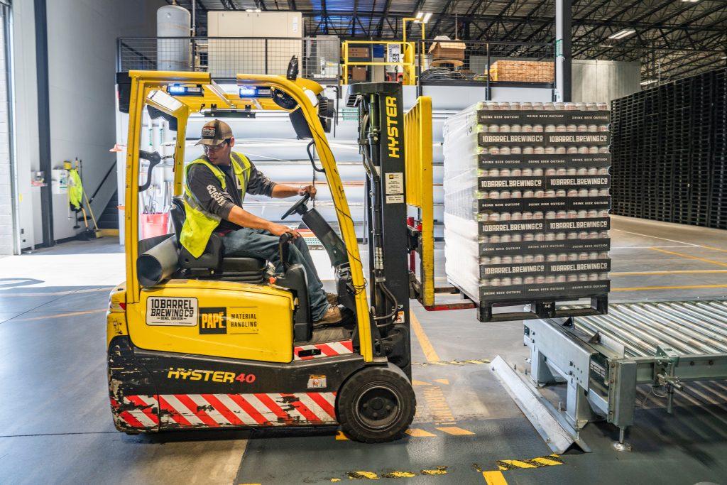 Warehouse machinery operation