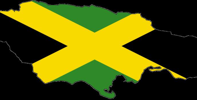 Jamaica_flag_map