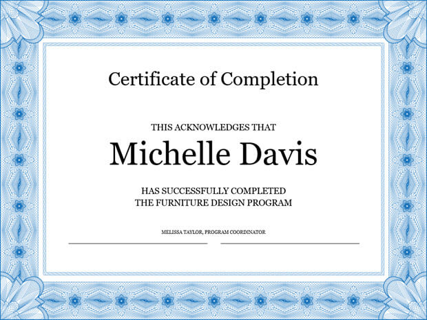 Furniture Design Certificate