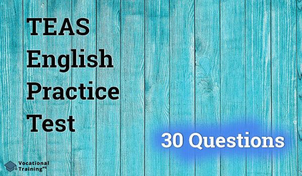 TEAS English Practice Test