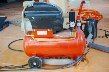 Orange Portable Air Compressor
