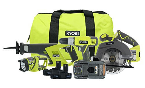 Ryobi P883 18V ONE+ Lithium Ion Contractor's Kit