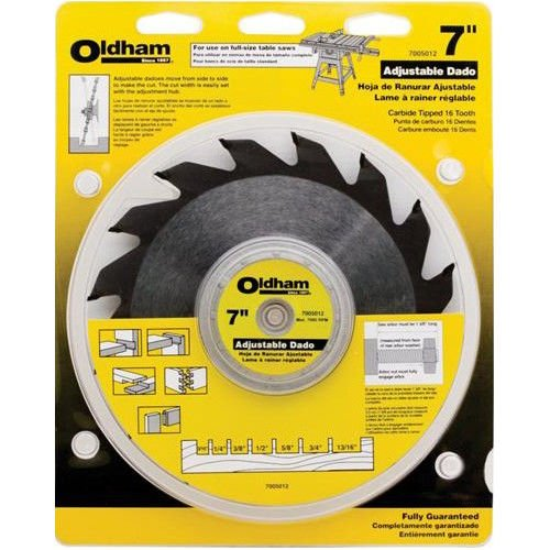 Oldham Adjustable Dado Blade Set