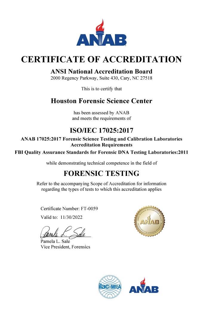 forensic science technician certificate