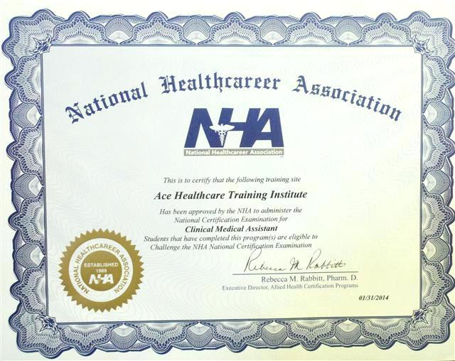 home health aide certificate example