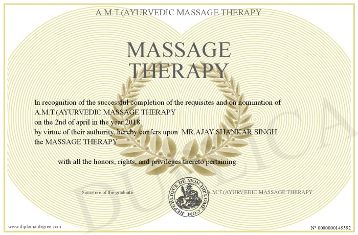 Massage Therapist Certificate