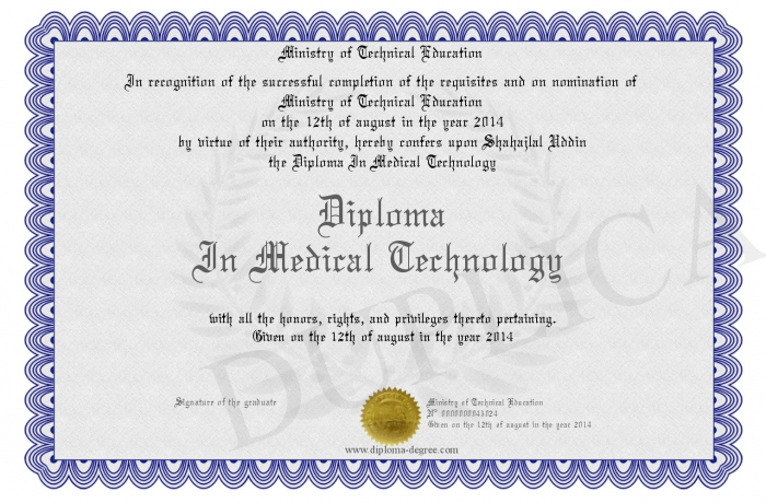 medical technology certification