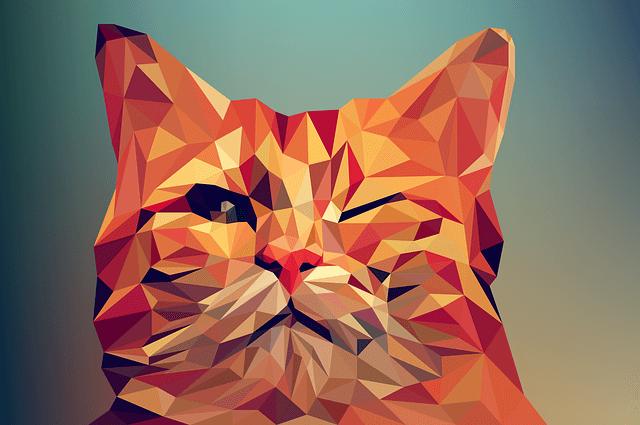 poly cat - graphic design